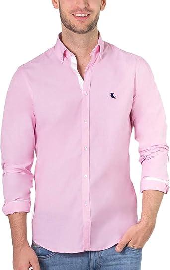 Piel de Toro Camisa Básica de Algodón Casual, Rosa (Rosa 34), XX-Large (Tamaño del Fabricante:XXL) para Hombre: Amazon.es: Ropa y accesorios