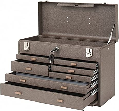 Kennedy Manufacturing B  Drawer Machinists Chest With Friction Slides Brown Wrinkle