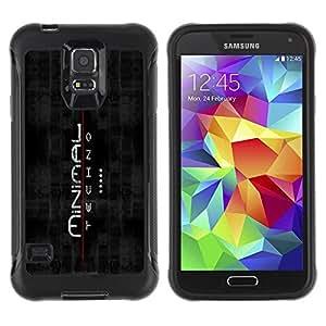Paccase / Suave TPU GEL Caso Carcasa de Protección Funda para - Minimal Techno Techno - Samsung Galaxy S5 SM-G900