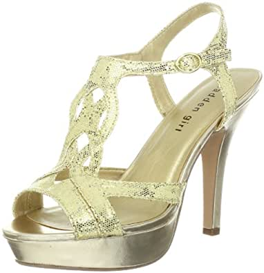 Madden Girl Women's Loopyy Pump,Gold,5 M US