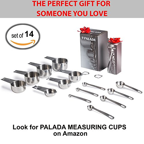 Palada - Stainless Steel Metal Measuring Spoons Set, Small Tablespoon to 1/8 Teaspoon, 7 Mini Measurement Spoons with Ring Holder, Bonus 10K Recipe E-book by PALADA (Image #6)