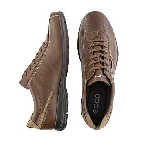 Ecco - Zapatos de cordones de Piel para hombre marrón