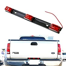 iJDMTOY Red 3-Lamp Truck/Trailer ID LED Light Bar For Ford F150 F250 F350 Dodge RAM 1500 2500 3500 Chevy Silverado, GMC Sierra, etc (14 Inches)