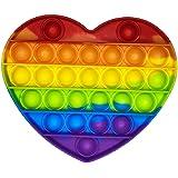Brinquedo Pop It Fidget Colorido Anti-Stress Sensorial Importado Entrega Imediata (Coração)