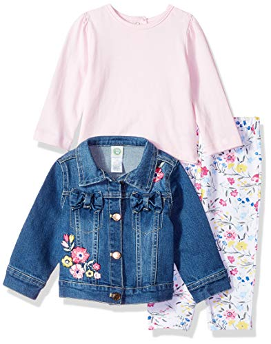 (Little Me Baby Girls Jacket Set, Denim 24 Months )