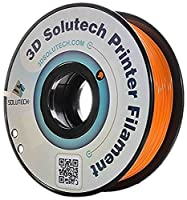 3D Solutech 3DSPLA175ORW Real Orange 3D Printer PLA Filament 1.75 mm Filament, Dimensional Accuracy +/- 0.03 mm, 2.2 lb. (1.0 kg) - 100% USA from 3D Solutech