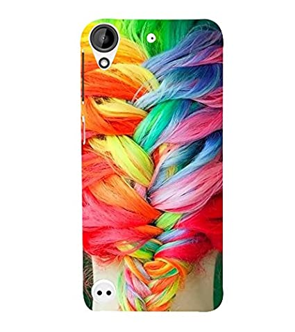 Fiobs Designer Back Case Cover for HTC Desire 530  Hair Multi Color Pony  Cases   Covers