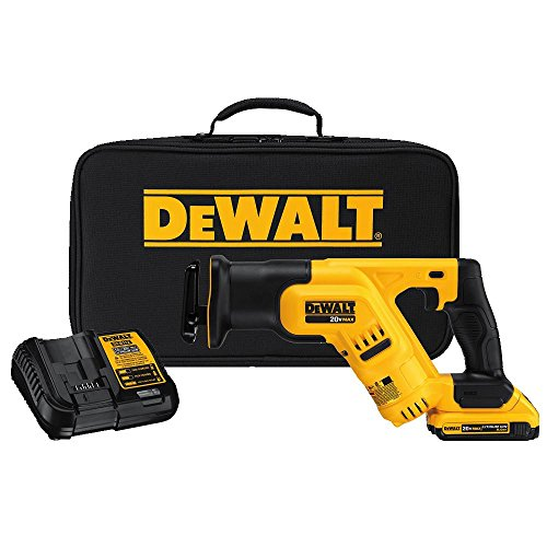DEWALT 20V MAX Cordless Reciprocating Saw Kit, Compact, 2-Amp Hour (DCS387D1) Compact Reciprocating Saw Kit