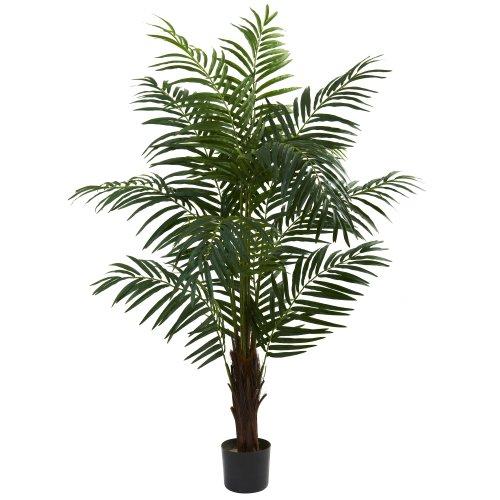 Palm Silk Tree Areca Artificial - Nearly Natural 5416 Areca Palm Tree, 5-Feet, Green