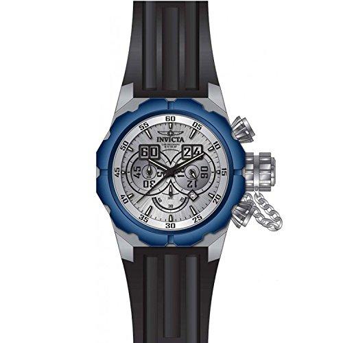[インヴィクタ]Invicta Russian Diver Black Silicone Band Steel Case Quartz SilverTone Dial Analog Watch 21681 メンズ
