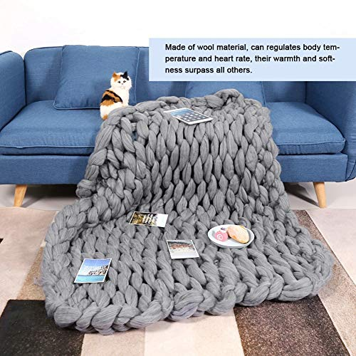 Knitted Blanket - Handmade Knitted Warm Blanket, Wool Thick Line Blanket Throw, Home Decor (Size : 100 x 130 cm) by DeWin (Image #1)