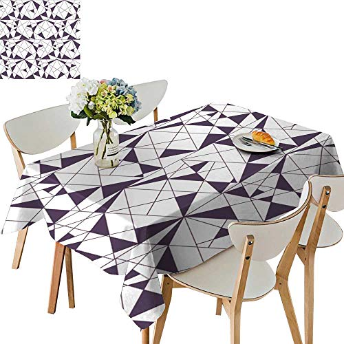 (UHOO2018 Natural Tablecloth Square/Rectangle tri gles. Stylish Texture. Wallpaper, backgroun for Home Use, Machine Washable,54 x103inch)
