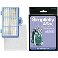 Simplicity Genuine HEPA Media & Secondary Filter Set for Wonder Power Team & Straight Suction Models