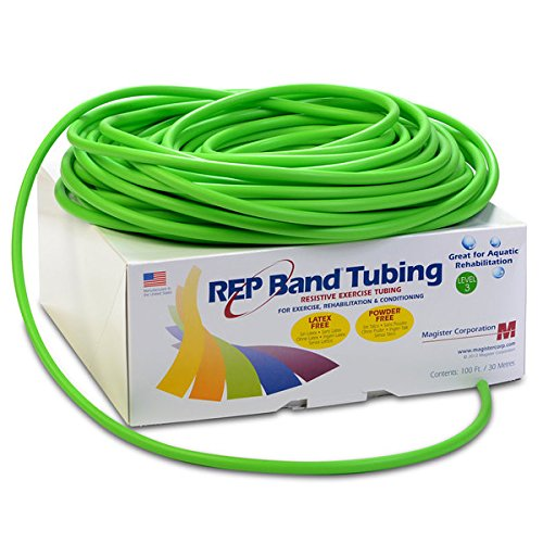 Magister Resistive Exercise - Rep Latex-Free Tubing Green (Level 3) 100' (100 ft) by REP Band