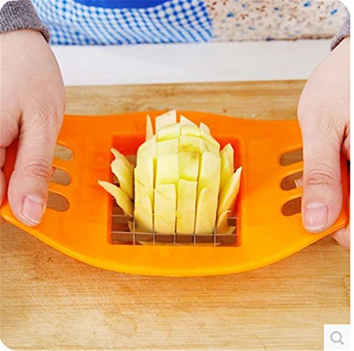 Pieces New PVC + Stainless Steel French Fry Fries Cutter Peeler Potato Chip Vegetable Slicer Cooking Tools Kangsanli