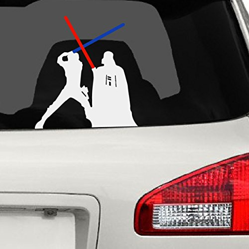 Darth Vader & Luke Skywalker Fight Car Decal, 8