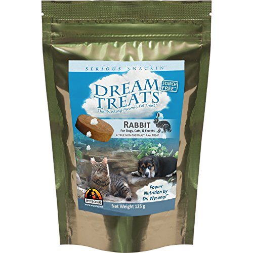 Wysong Dream Treats Rabbit Raw Dogs/Cats/Ferret Food - 4.9 Ounce Bag