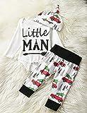 Kids Christmas Set, SRYSHKR Baby Xmas Tops + Pants Home Outfits Pajamas hat 3pcs Set (3-6M, Red)