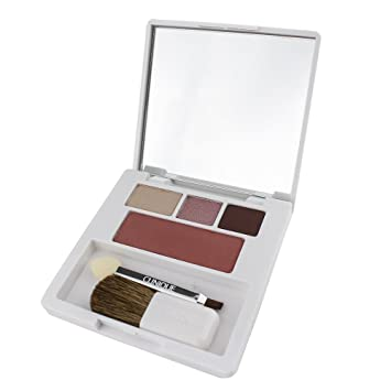 Clinique Colour Surge Shadow Trio & Blush Palette - Link Mink/Pink Chocolate/Chocolate Chip/Fig - Travel Size