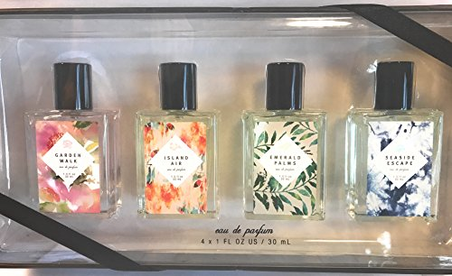 Garden Walk, Island Air, Emerald Palms, SeaSide Escape 4 Pc Eau De Parfum Set 4 x 1 (Escape Parfum)