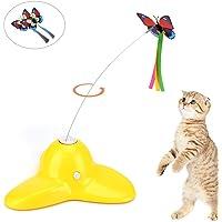 OIZEN Katzenspielzeug, Elektrische Interaktive Spielzeug Katzenspielzeug Intelligenzspielzeug Interaktives Katzenspielzeug mit Blinkender Schmetterlinge