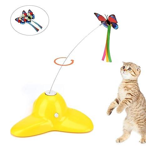 OIZEN Juguete Gato, Juguete para Gato Juguetes Interactivos Eléctrico Cat Toy Rotación de 360°