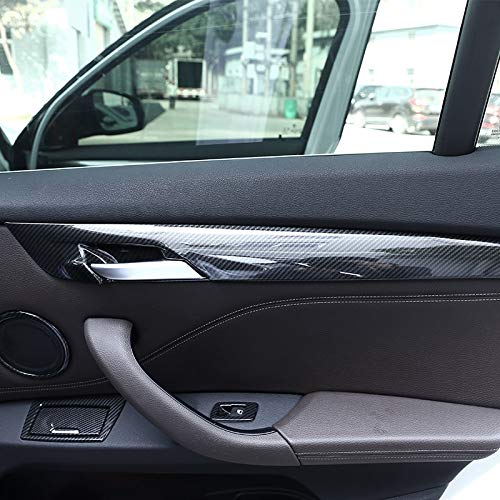4pcs Carbon fiber For BMW New X1 F48 2016-2018 ABS Plastic Interior Door Decoration Strips Cover Trim For BMW X2 F47 2018 by silutong (Image #3)