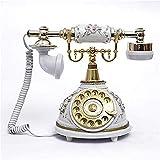 Ldlzjdh Landline Antique Telephone Vintage Old Fashioned Swivel Plate/Mechanical Ringtones Telephone Landline