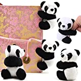 TUANTUAN 5 PCS Adorable Panda Clips Plush Panda Doll Bookmark Notes Clip Photo Holder Stand Memo Clip Indoor Plant Home Decoration