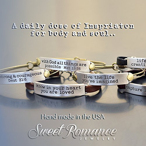 Sweet Romance Trust in the Lord Prov 3:5 Inspirational Leather Band Bible Message Bracelet (Black Leather) by Sweet Romance (Image #8)