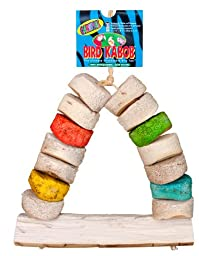 Bird Kabob 8-1/2-Inch Carnival Chewable Perch