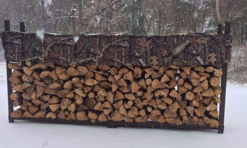 Woodhaven 10' Firewood Rack & Standard Cover - Black