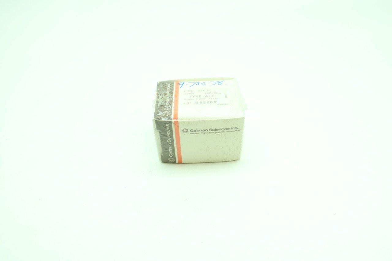 BOX OF 100 NEW GELMAN SCIENCES 61631 TYPE A/E GLASS FIBER FILTER 47MM D610226