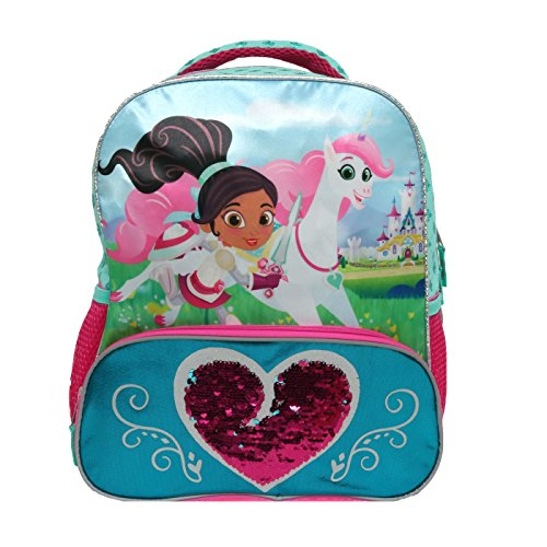 Nella the Princess Knight 14 Royal Heart Kids Backpack - Pink -