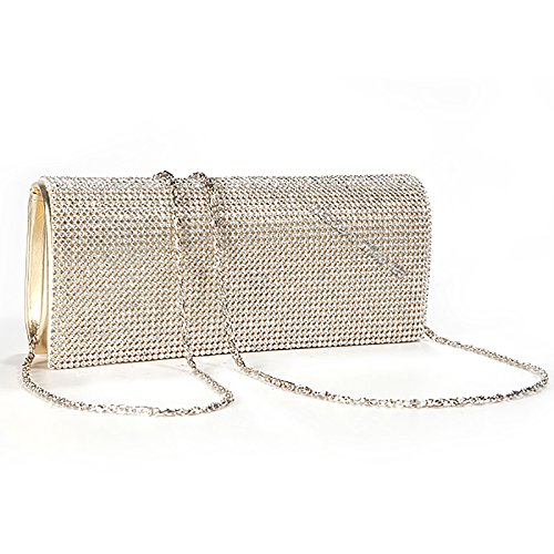 Wocharm (TM) gold silver crystal diamante rhinestones ladies party evening clutch bag (gold) by wocharm