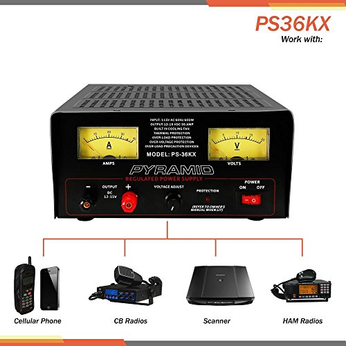Pyramid Bench Power Supply | AC-to-DC Power Converter | 32 Amp Power Supply with Adjustable Voltage Control (PS36KX) by Pyramid (Image #3)