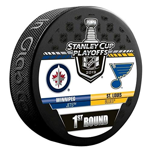 2019 Stanley Cup Playoffs Hockey Puck 1ST Round Jets VS. Blues Souvenir Puck Finals PRE-Order Item - Shipping Begins April 28TH (Winnipeg Jets Hockey)
