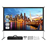 Projector Screen with Stand, 135' 4K HD Outdoor/Indoor Portable Projector Screen 16:9 Foldable Movie...