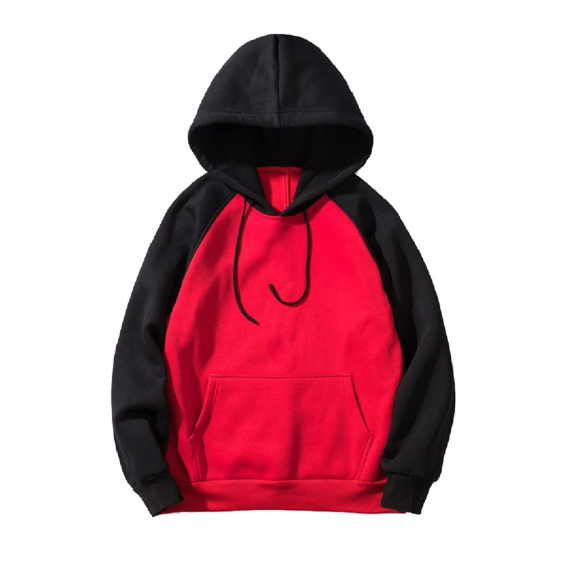 YUNY Mens Hooded Pullover Oversize Color Stitch Pullover Sweatshirt 4 XL