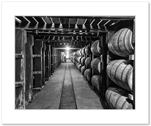 Bourbon Whiskey Barrels Wall Art, Buffalo Trace Distillery Rickhouse Decor, 8x10 Matted Photographic Print