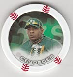 2014 Topps Poker Chipz Yoenis Cespedes Oakland Athletics