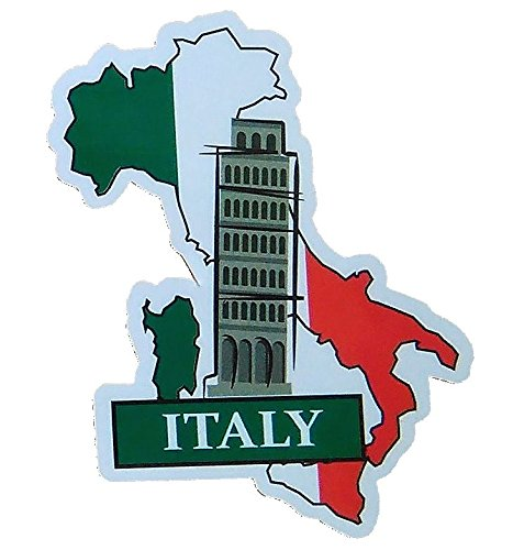Italy National Flag and Map Sticker for customization of favorite items such as suitcases
