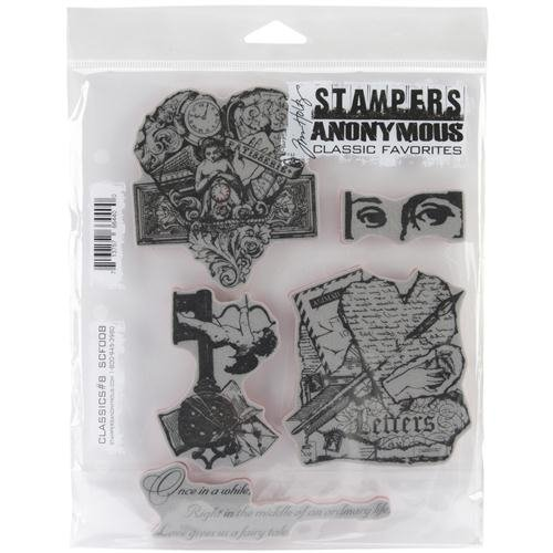 Stampers Anonymous - Tim Holtz - Cling Mounted Rubber Stamp Set - Classics 8 AGSCF008