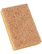 Spoelspons | Topreinigende spons van natuurlijke houtcelstof | multifunctionele keukenspons katoenen spons keuken accessoire washing up sponzen | 1/4 stuks