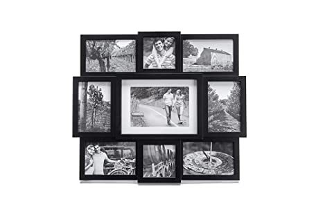 Malden Array Black 9-Opening Puzzle Collage Picture Frame: Amazon.ca ...