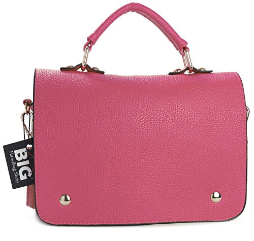 Small Pink Big Messenger Shop Body Handle Top Mini Handbag Bag Cross Womens Shoulder Gu333 Plain xwZPaHRq