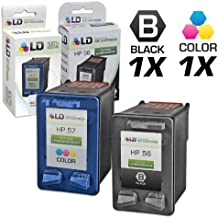 LD Remanufactured Ink Cartridge Replacements for HP C6656AN (HP 56) Black and HP C6657AN (HP 57) Color (1 Black and 1 Color)