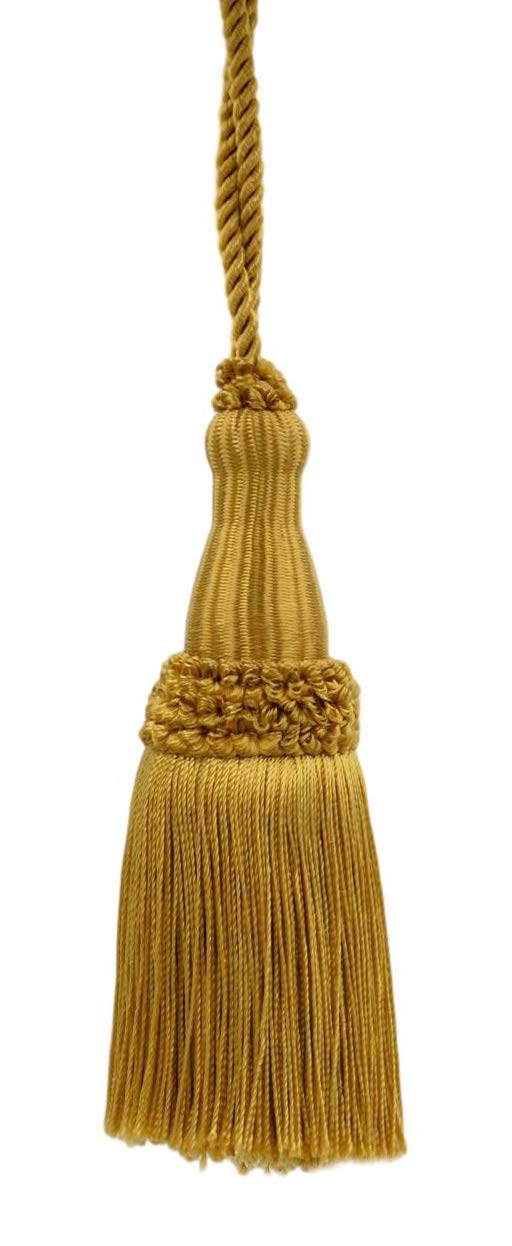 D05 Decorative 5 1//2 Inch Key Tassel Style# KTC055 Color Old Gold