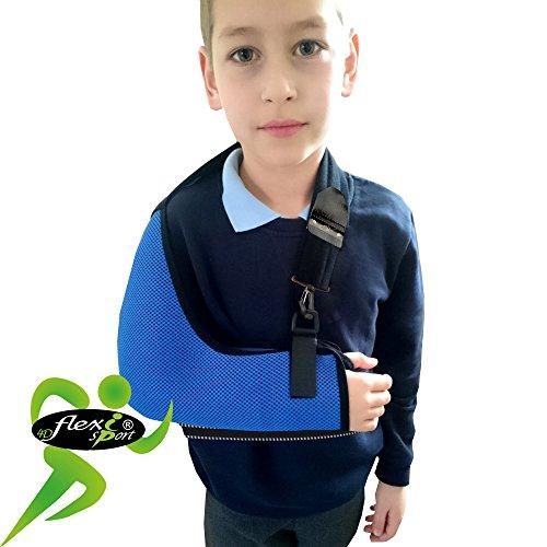Cabestrillo Para Brazo Suportes de Brazos SÚPER CONFORTABLE. Profunda bolsillo cabestrillo para el brazo. El brazo se une a la cintura, cuello acolchado suave, fácil ajuste. Unisexo. (AZUL, 6-8años)