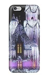 Iphone 6 Plus Case Cover Skin : Premium High Quality Disneyland Christmas Castle S Case